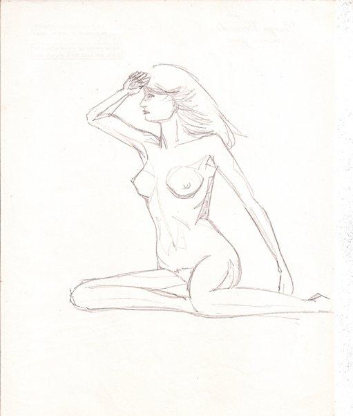 Nackte Frau Zeichnen